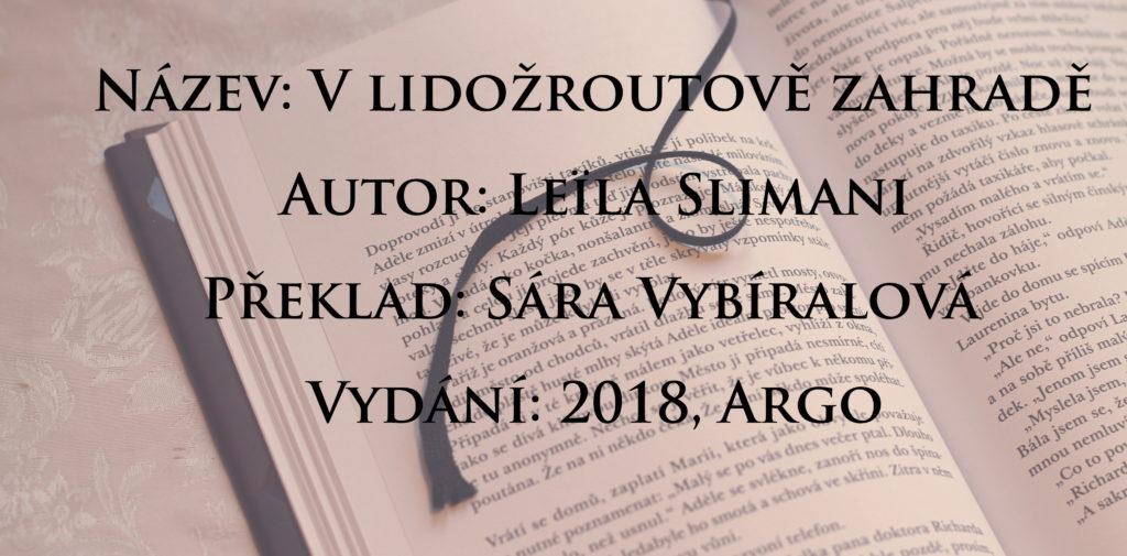 Recenze: V lidožroutově zahradě - Leïla Slimani